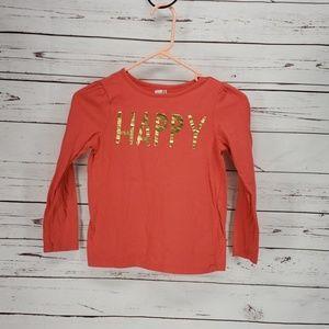 Crazy 8 Orange Happy  Long Sleeve Shirt